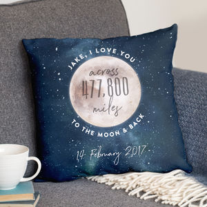 Love You Across The Miles To The Moon And Back Cushion - gifts for mothers