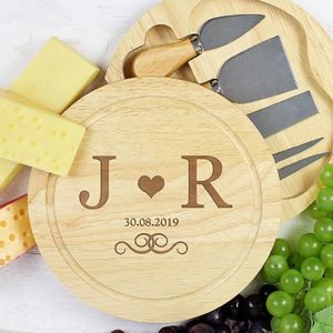 Personalised Cheeseboard With Cheese Knives