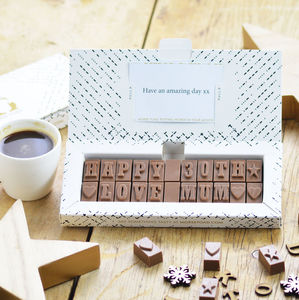 Personalised Chocolate Gift In A Medium Box