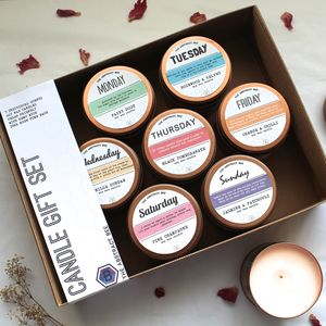 Days Of The Week Candle Gift Set - candles & home fragrance