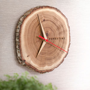 Real Oak Wooden Clock