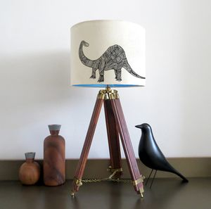 Dinosaur Lampshade With Colour Inside Lining - children's lighting