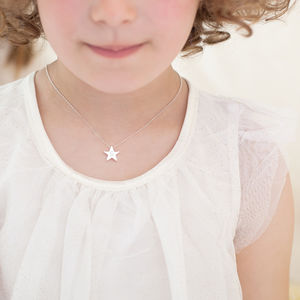 Mini My Lucky Star Personalised Sterling Necklace - christening jewellery