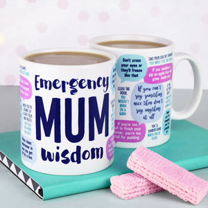Emergency Mum Wisdom Mug - gifts from younger children