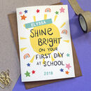 'Shine Bright' First Day At School Card