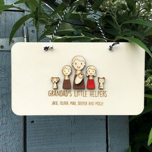 Personalised Grandad Or Grandpa Keepsake Sign