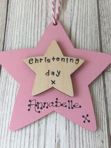 Personalised Christening Wooden Keepsake Sign - christening gifts