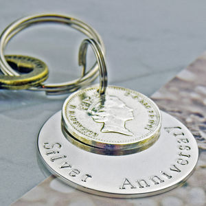 Silver Anniversary Keyring - 25th anniversary: silver