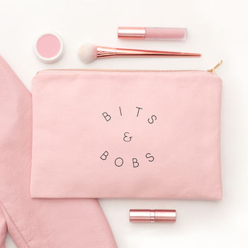 'Bits And Bobs' Blush Pink Pouch