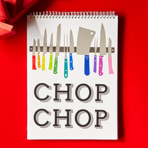 Chop Chop Spiral Recipe Holder With 50 Paper Protectors - cookbooks & stands