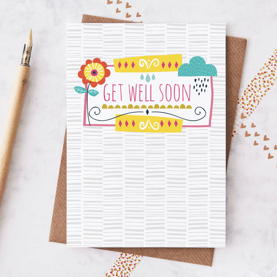 Get well soon greetings card by jessica hogarth notonthehighstreet get well soon greetings card m4hsunfo