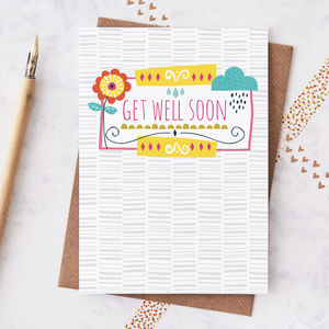 Get Well Soon Greetings Card - get well soon cards