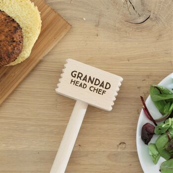 Personalised Wooden Meat Hammer