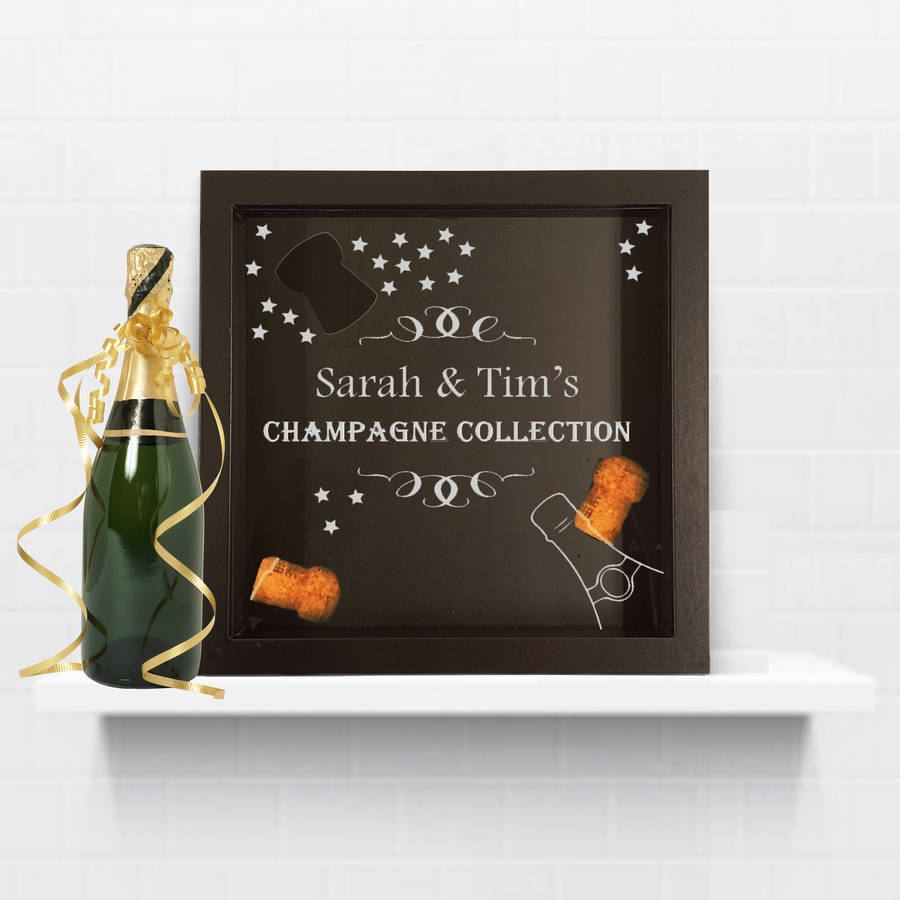 Cork Wedding Memory: Champagne Cork Collection Box By Perfect Personalised