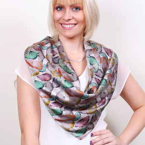 Poppies Square Silk Scarf - scarves