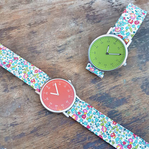 Ladies Forget Me Not Strap Watch - watches