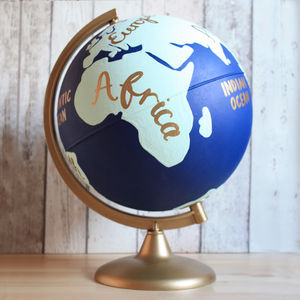 Travel Destination Hand Painted Globe - decorative accessories
