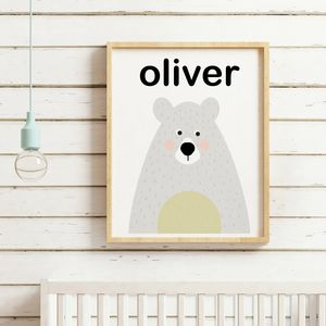 Personalised Bear Print