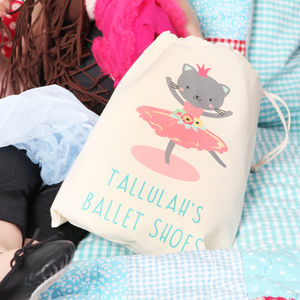 Ballerina Kitten Personalised Ballet Bag