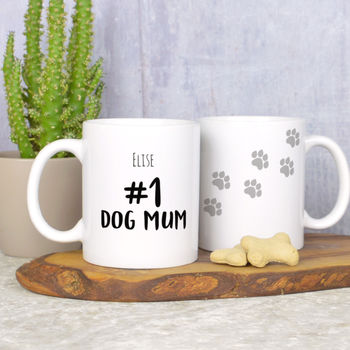 Personalised Number One Dog Mum Mug