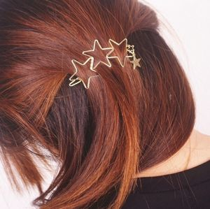 Gold Star Trio Hair Clip - hair accessories