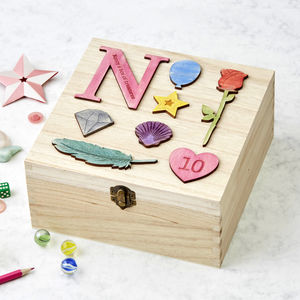 Personalised Birthday Jewellery Treasure Storage Box - children's room accessories