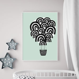 Hot Air Balloon Children's Print - baby's room