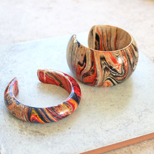 Marbled Wood Cuff