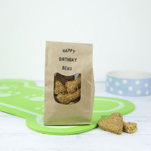 Personalised Birthday Message Dog Treat Gift - new in pets