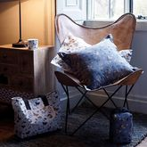Tan Leather Butterfly Chair - home