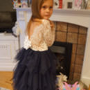 Coco Flower Girl Or Party Dress ~ In Navy