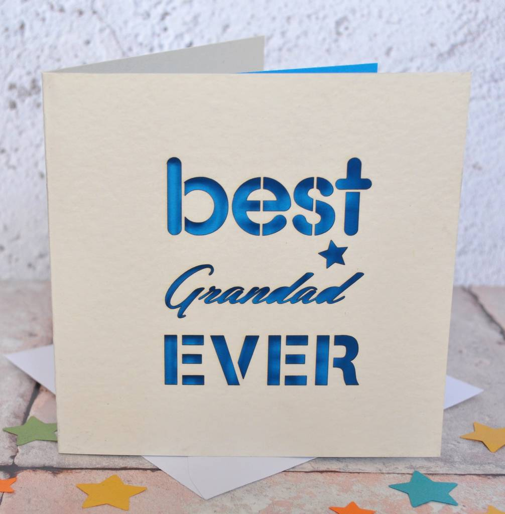 Best Grandad Ever Laser Cut Card