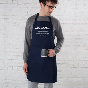 Personalised Worlds Best Teacher Apron