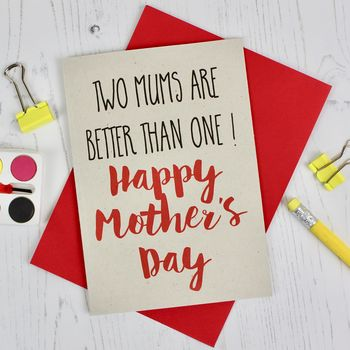Two Mums Mother's Day Card