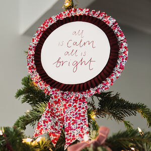 Liberty Print Rosette Tree Topper