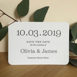 Big Date Save The Date Card - save the date cards