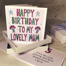 Personalised Mum Birthday Book Card