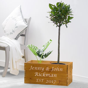 Personalised Wedding Planter - new in garden
