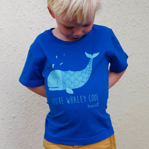 Childrens 'You're Whaley Cool' Organic Tshirt - girl's t-shirts