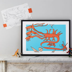 Personalised Artwork Print From Your Children's Drawing - baby's room