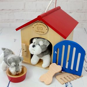 Personalised Dog Kennel With Two Dogs - soft toys & dolls