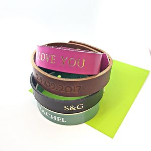Personalised Leather Bracelet - bracelets & bangles