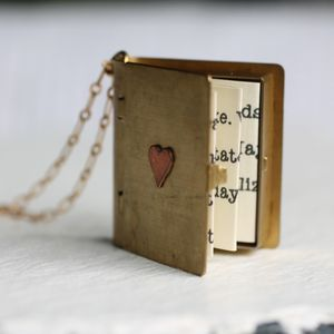 Love Story Personalised Book Locket