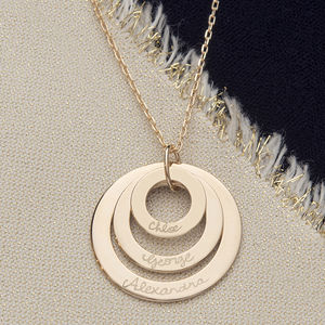 Personalised Eternity Trio Necklace - 30th birthday gifts