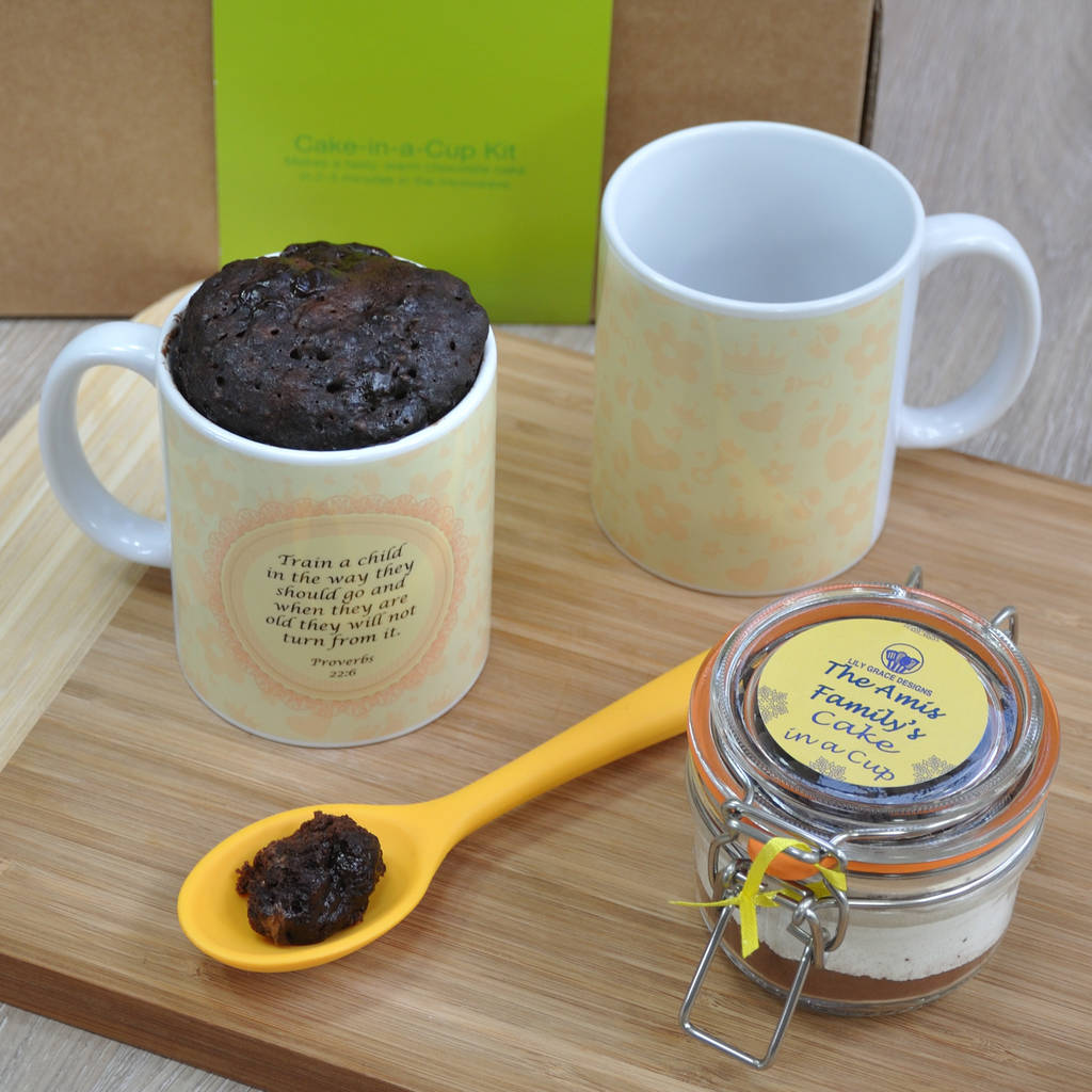 Christening Gift For The Family: Proverb Mug Cake Kit