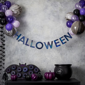 Halloween Bunting And Balloons Hanging Party Decoration