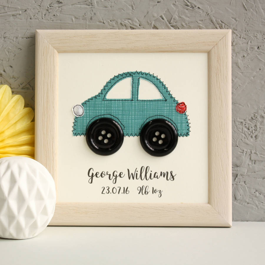 Personalised Car Embroidered Framed Art
