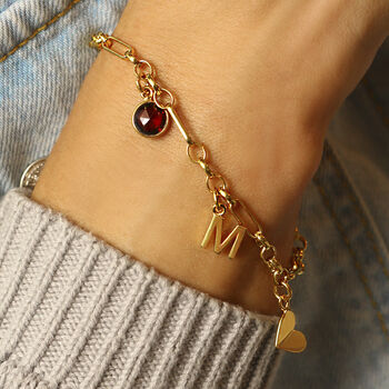 Personalised 18ct Gold Vermeil Charm Bracelet