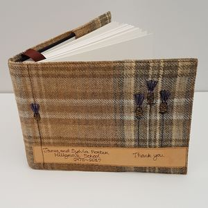 Visitor Book, Personalised Guest Book, Tartan