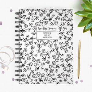 Wild Flower Undated Weekly Planner